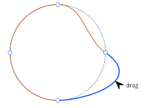 Selection and editing of the points on an SVG Path